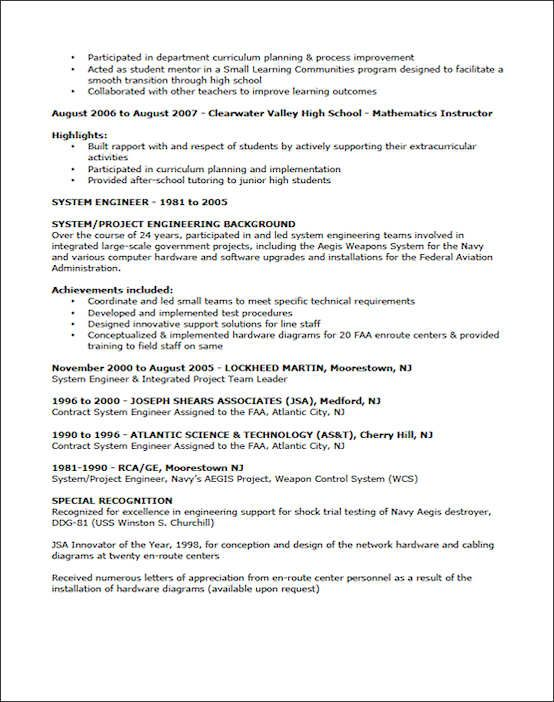 Teaching Resume Example Sample Teacher Template Best Collection