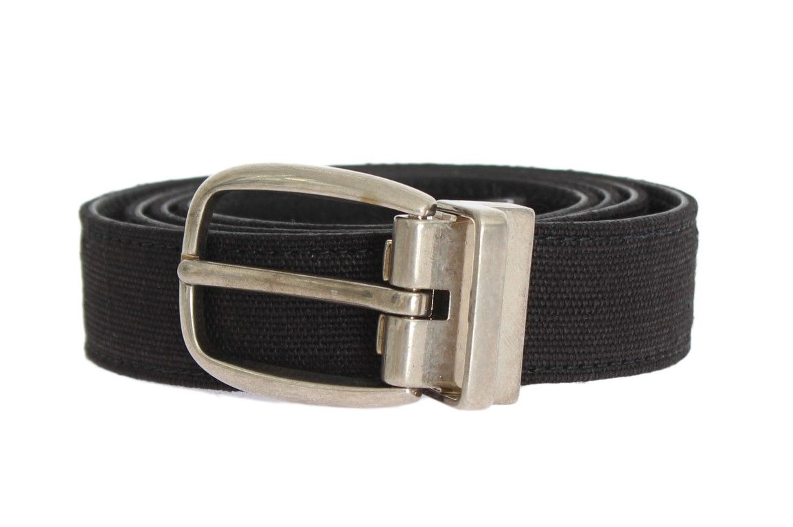 DolceGabbana  Belts Blue Linen Leather Silver Buckle Belt    Blue Dolce    Gabbana 025e41eec4