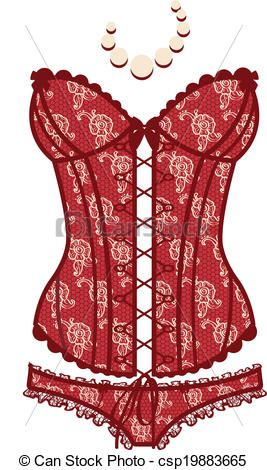 ac2d8d47f Vector - Vintage red sexy guipure corset - stock illustration ...