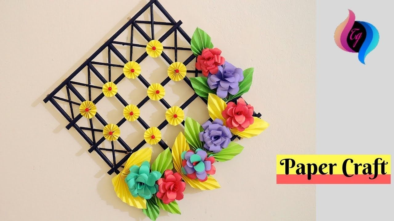 Diy Wall Decoration Ideas With Paper Craft Ways To Decorate Your Home With Paper Crafts Paper Wall Decor Wall Hanging Crafts Paper Flower Wall