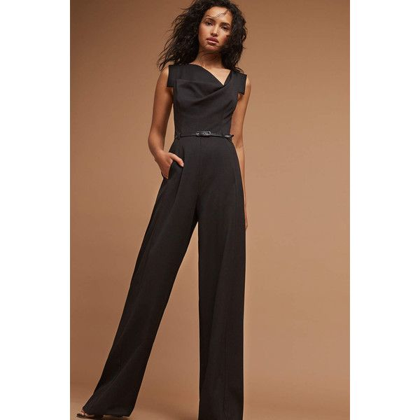 747026b5d91e Black Halo Marilyn Jumpsuit ( 390) ❤ liked on Polyvore featuring jumpsuits
