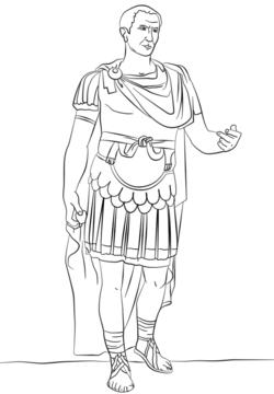 Julius Caesar Coloring Pages Ancient Rome Kids Julius Caesar Ancient Rome