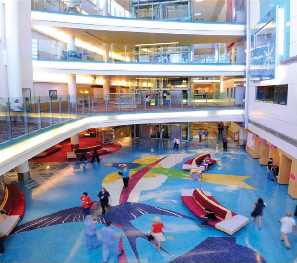 Our Boettcher Atrium is full of color and open space for ...