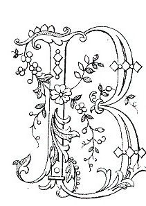 Monogram Coloring Pages Paper Embroidery Embroidery Patterns