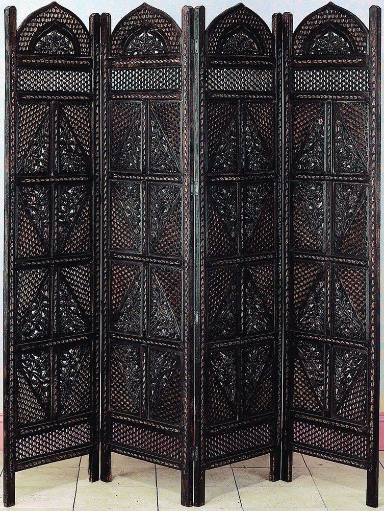 Decorative Wood Screens ~ Antiques wood room divider panel hand carved screen home