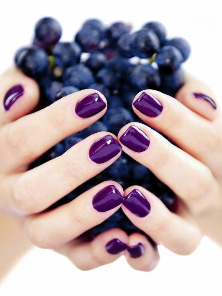Grapes nail arts Perfect Purple