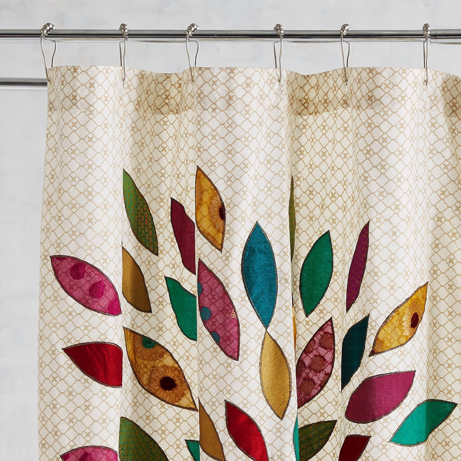 Bursting With Color Our Peacock Shower Curtain Has Handcrafted