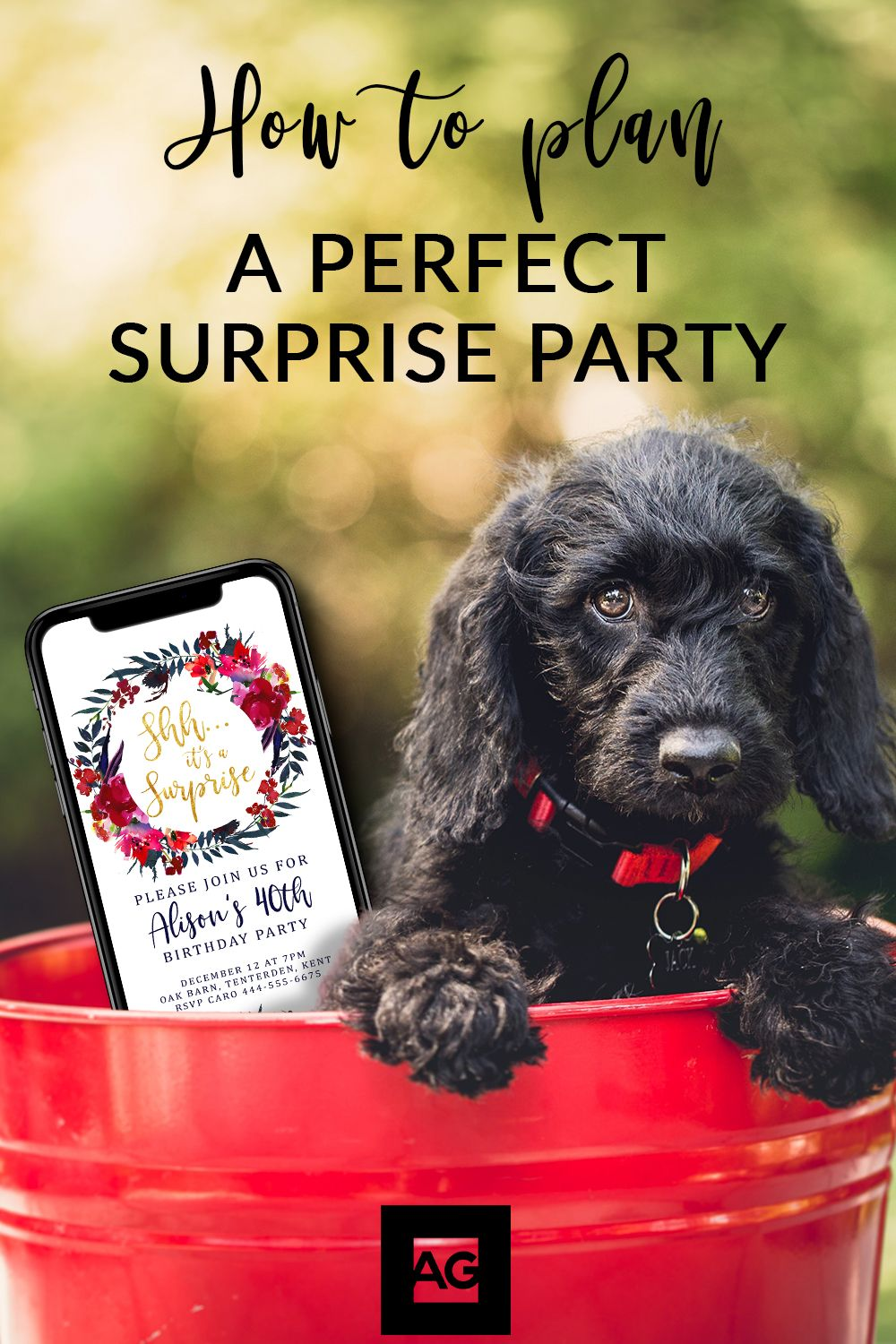 Electronic Surprise Party Invitations Available A Quick Effortless Way To Share Your Secret Celebration Simply Edit And Then Invites On Phone