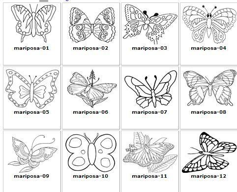 Pin de raquel garcia en ilustraciones y buhos pinterest - Plantillas de mariposas para pintar ...