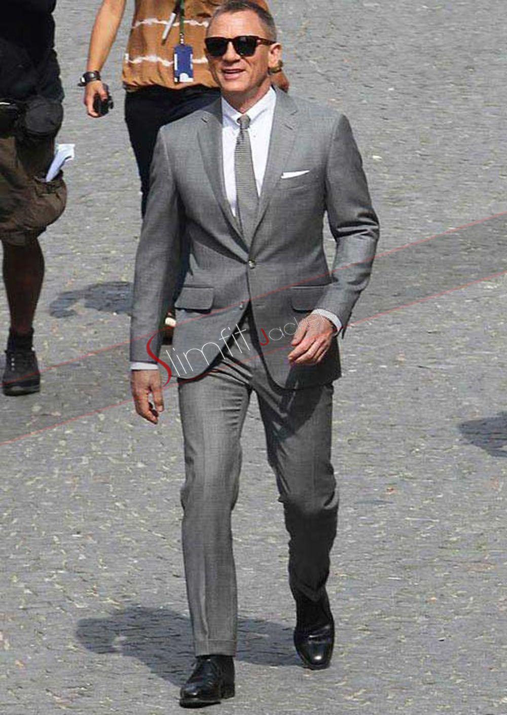 Skyfall Daniel Craig Grey Suit James Bond Suit Bond Suits