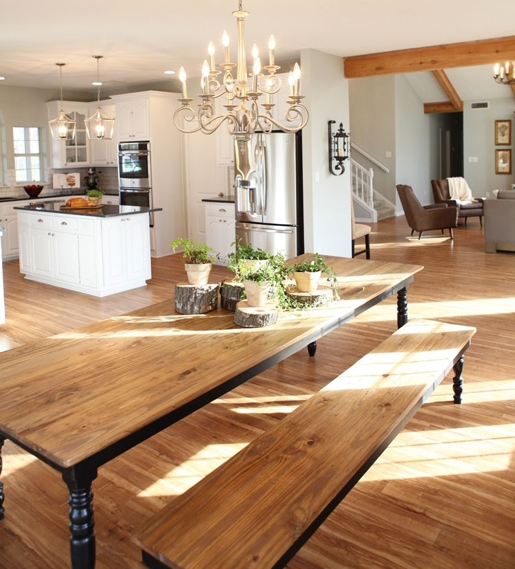 Fixer Upper Country Kitchen: Kitchen/Dining Room From HGTV's Fixer Upper