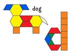 Jessica\'s Pattern Block Mats ( free Printables)   School   Pinterest ...