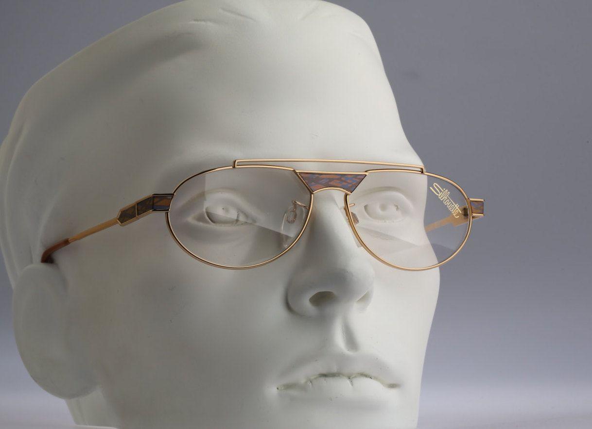 Vintage aviator eyeglasses, Silhouette M 6161 V 6051 80s