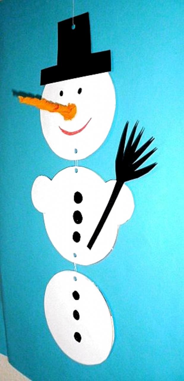 Schneemann aus Bierdeckeln - Weihnachten-basteln - Meine Enkel und ich - Made with schwedesign.de