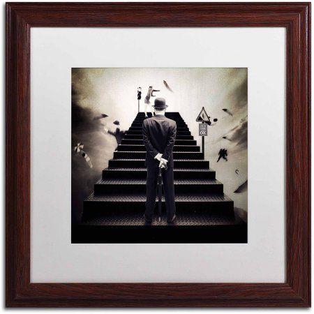 Trademark Fine Art Waiting for the Green Light Canvas Art by Erik Brede, White Matte, Wood Frame, Size: 16 x 16