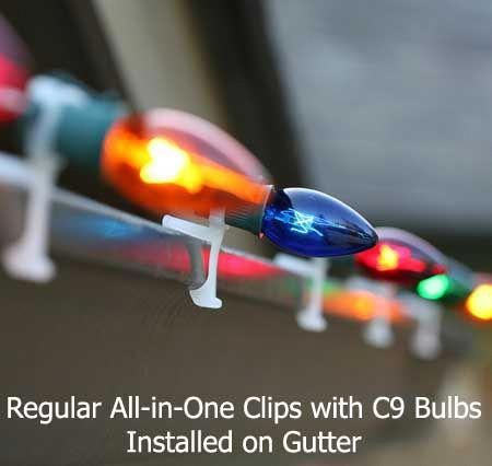 All-In-One Clip, 100 Pack #exteriorchristmaslights Decorating For