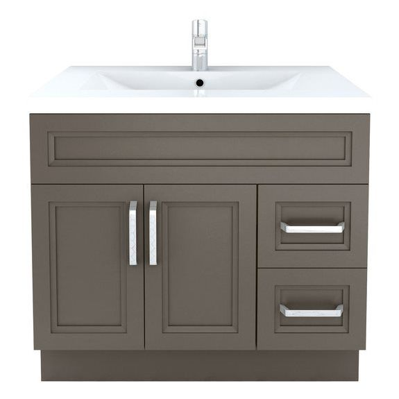 Cutler Kitchen Bath Urban Sundown Contemporary Bathroom Vanity 36 In X 22 At Lowe S Canada Find Our Selection Of B