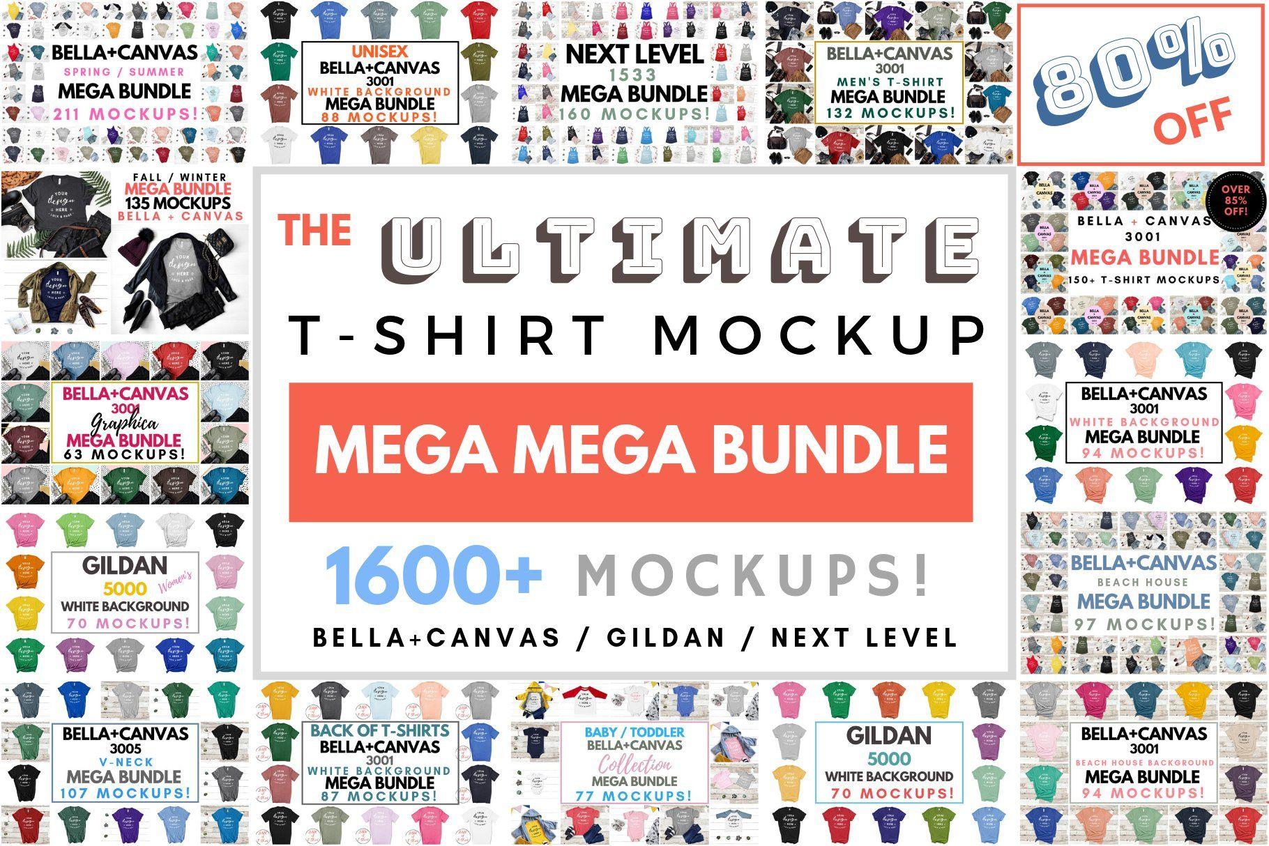 Download Ultimate T Shirt Mockup Mega Bundle Tshirt Mockup Design Mockup Free Free Packaging Mockup
