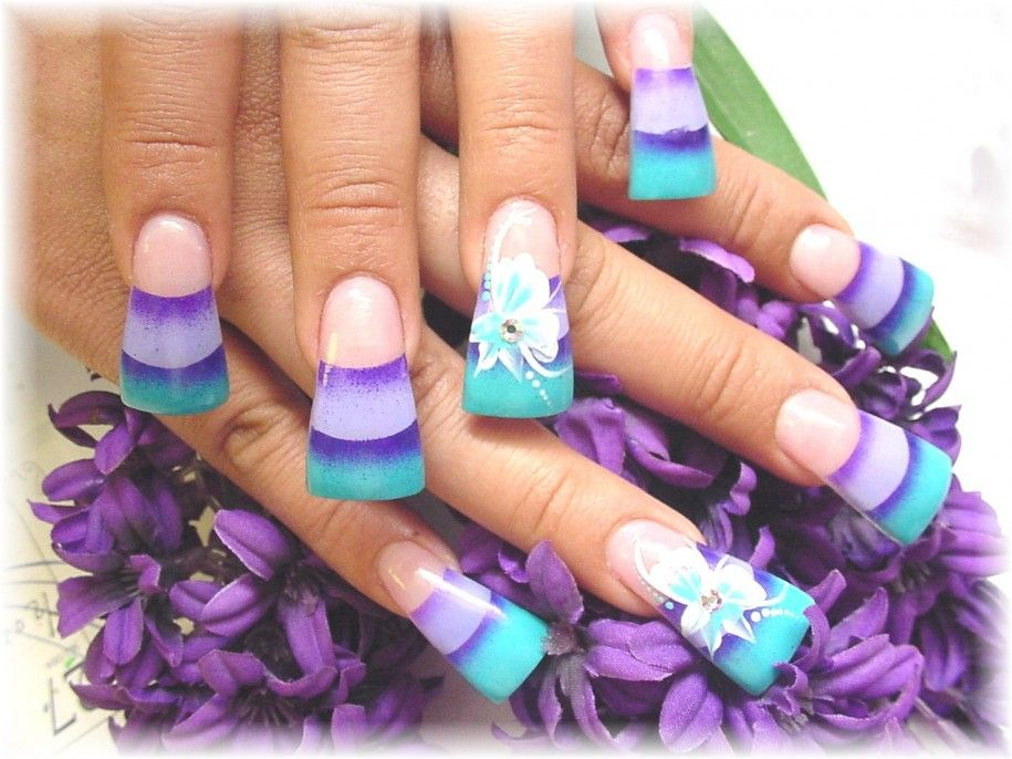 Turquoise Acrylic Nail Designs | Turquoise Acrylic Nail Art Design ...