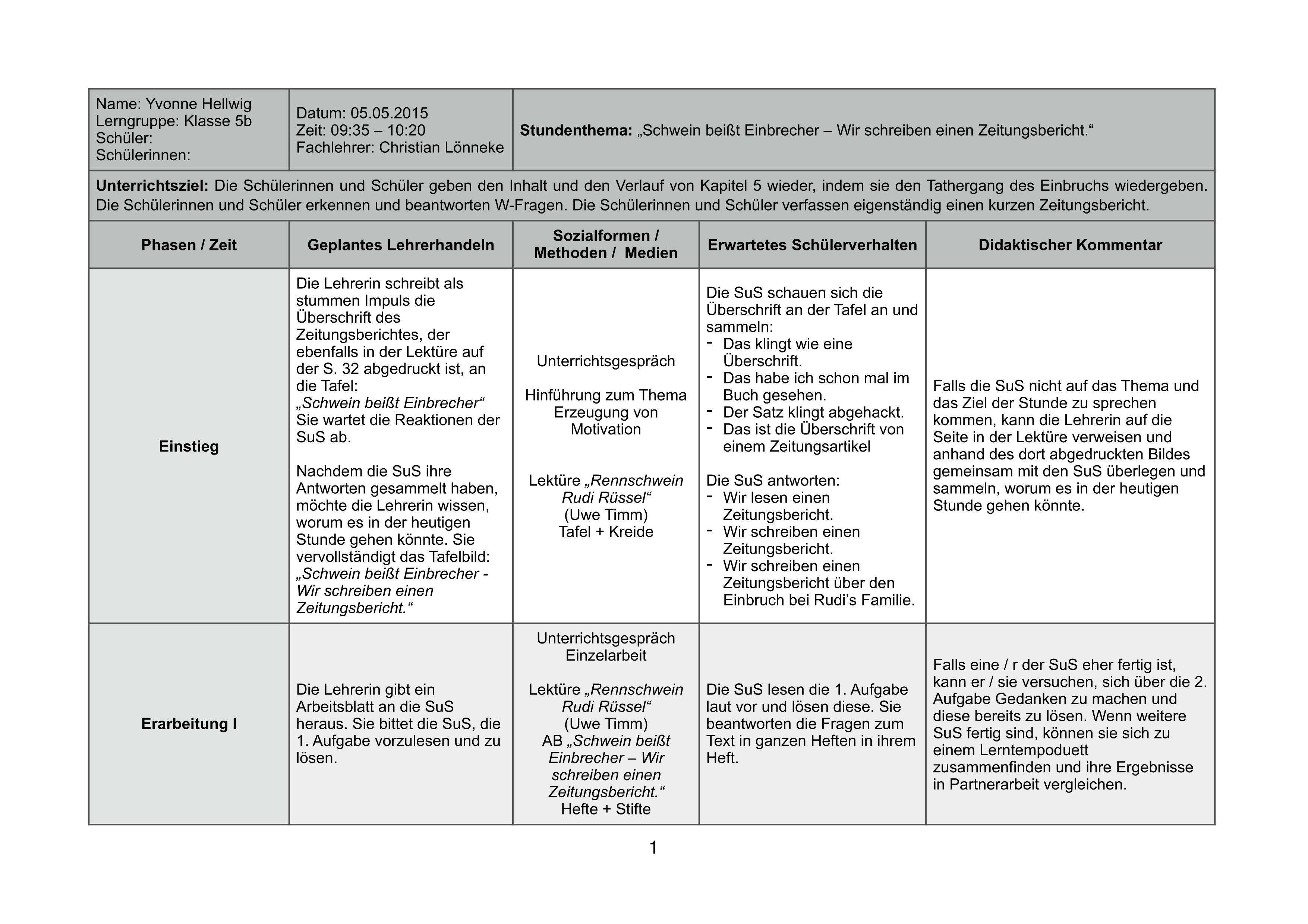 Unterrichtsplanung Verlaufsskizze Rudi Russel Unterrichtsmaterial In Den Fachern Daz Daf Deutsch In 2020 Unterrichts Planung Unterrichtsplanung Unterrichtsmaterial