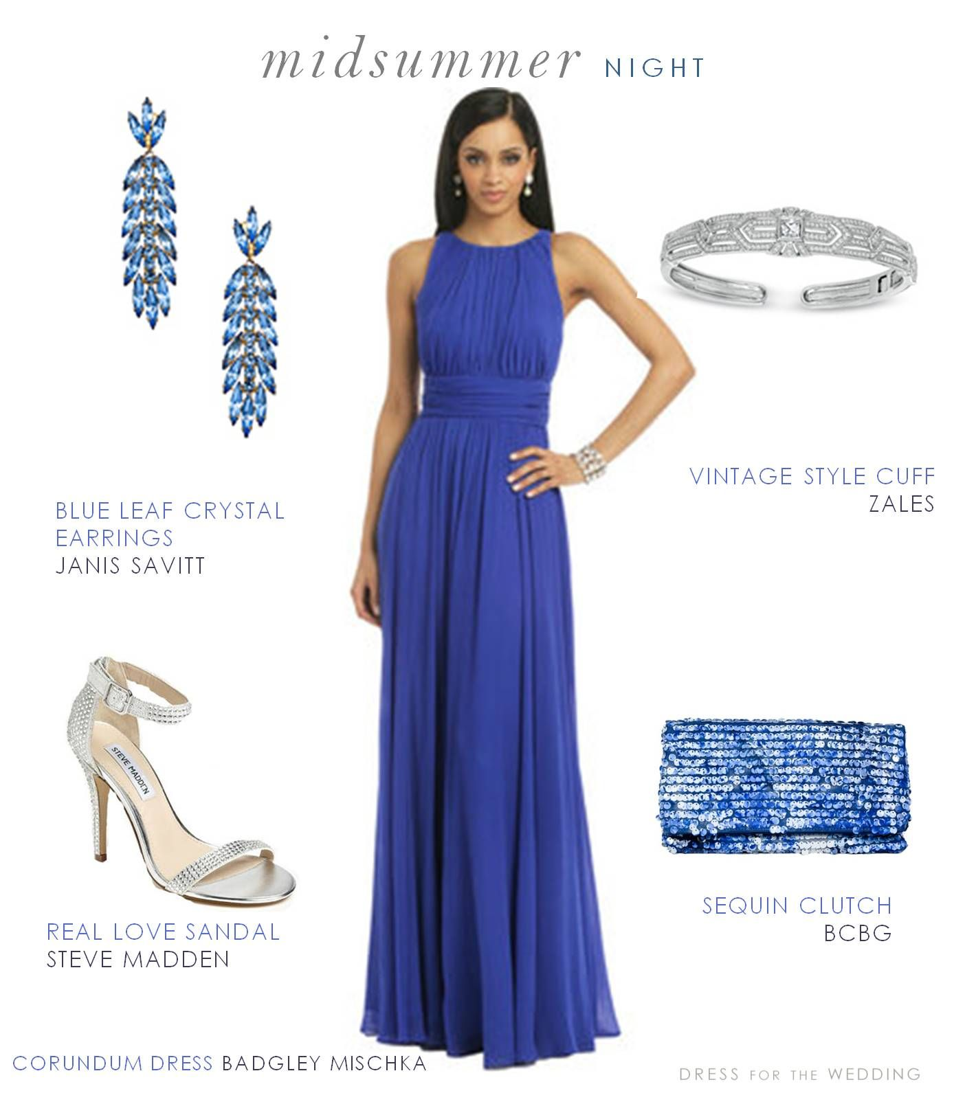 Blue formal dress for a wedding guest my style pinterest