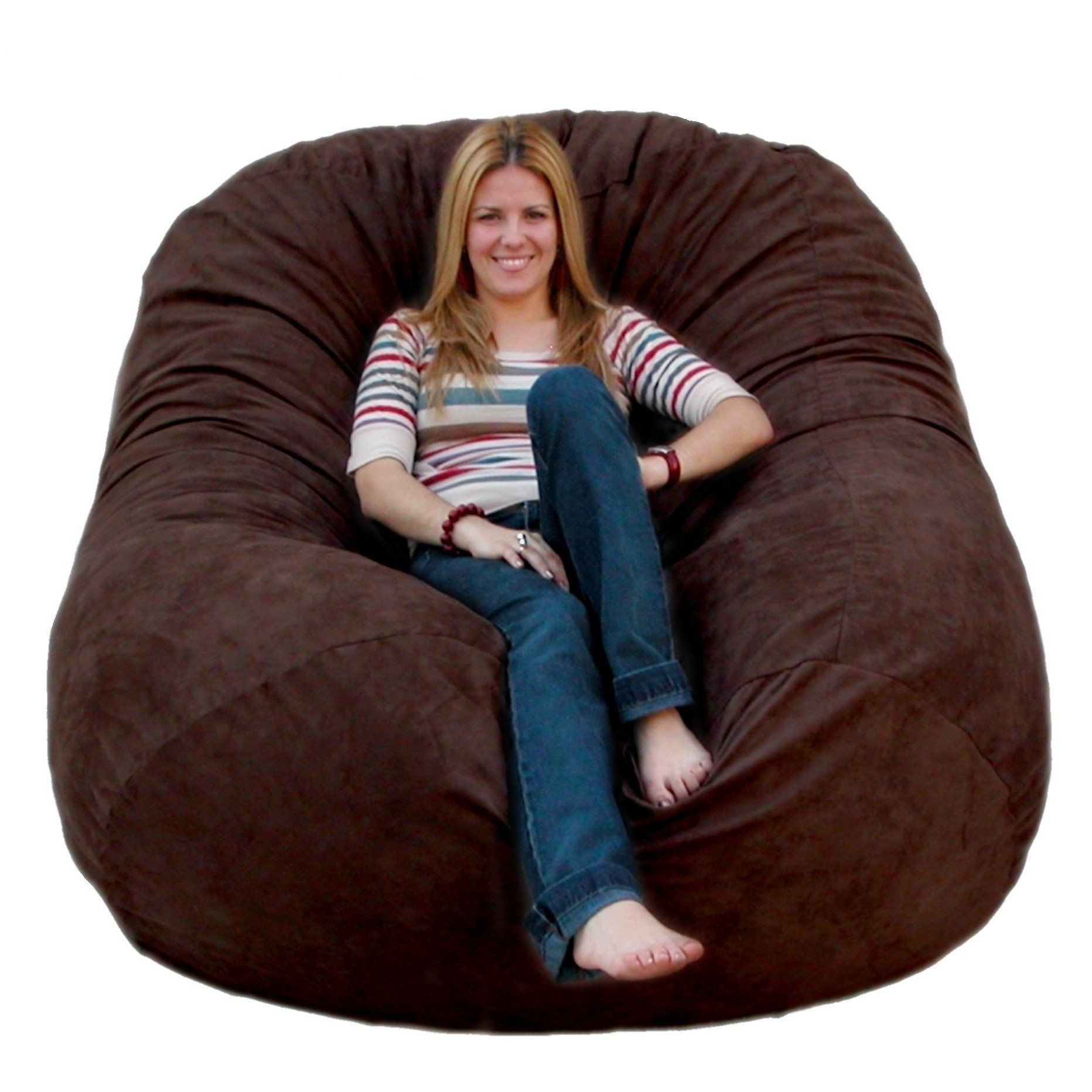 Cozy Sack 6 Feet Bean Bag Chair Large Chocolate