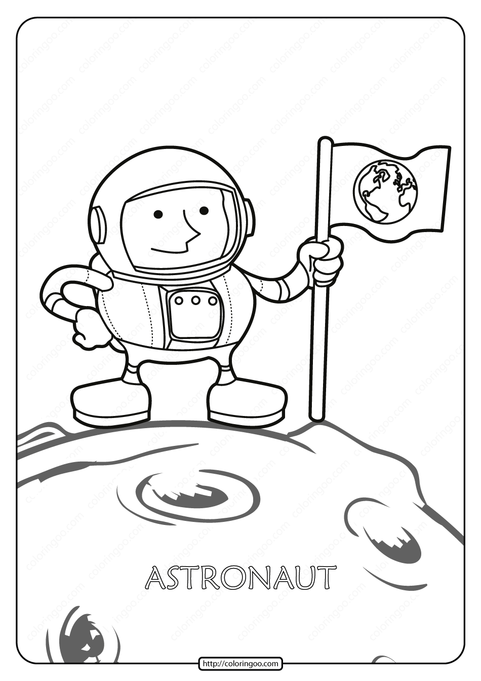 Printable Astronaut Pdf Coloring Page Coloring Pages Color Free Printables