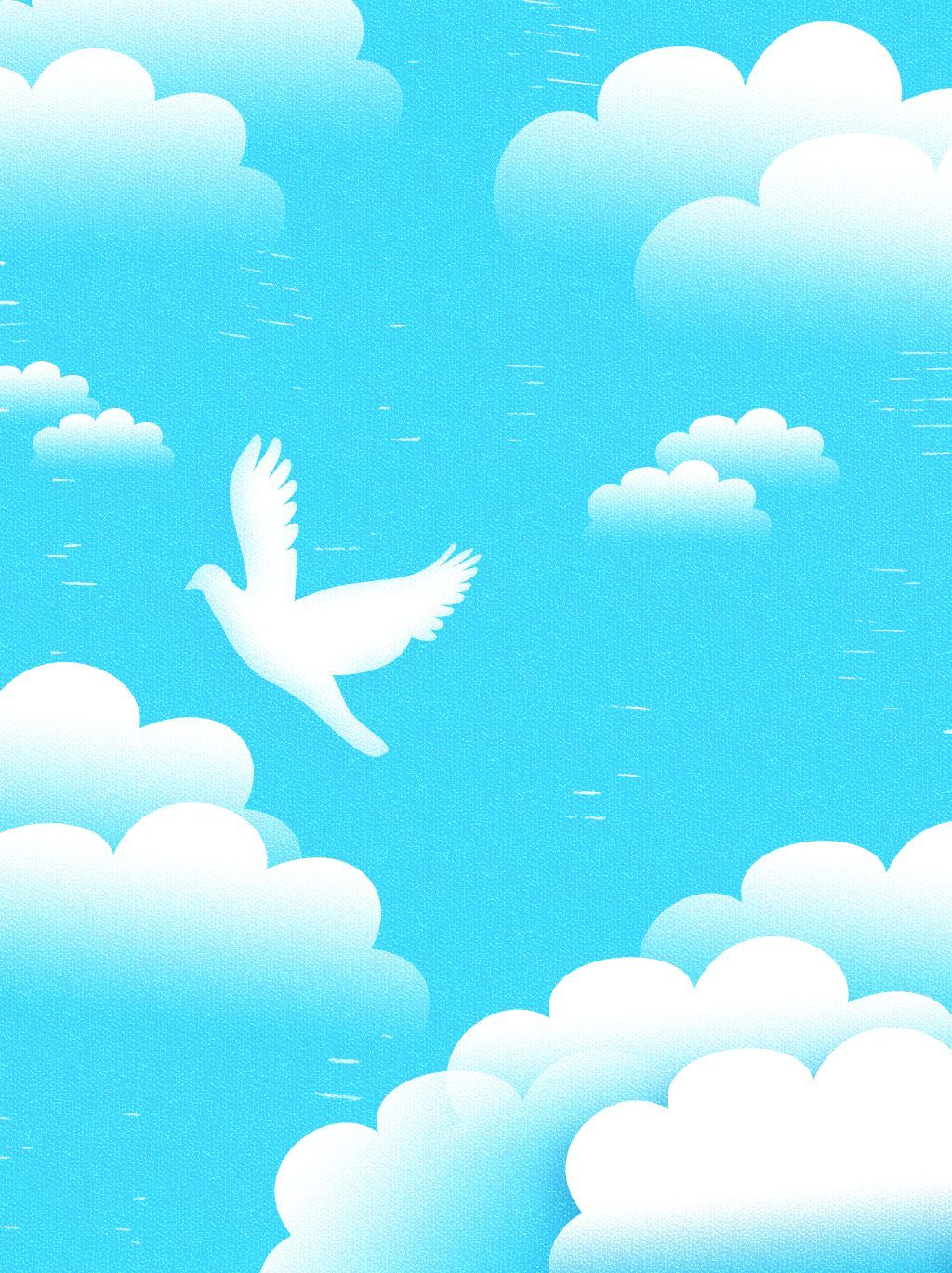 Fully Simple Blue Sky White Clouds Background White Clouds Blue
