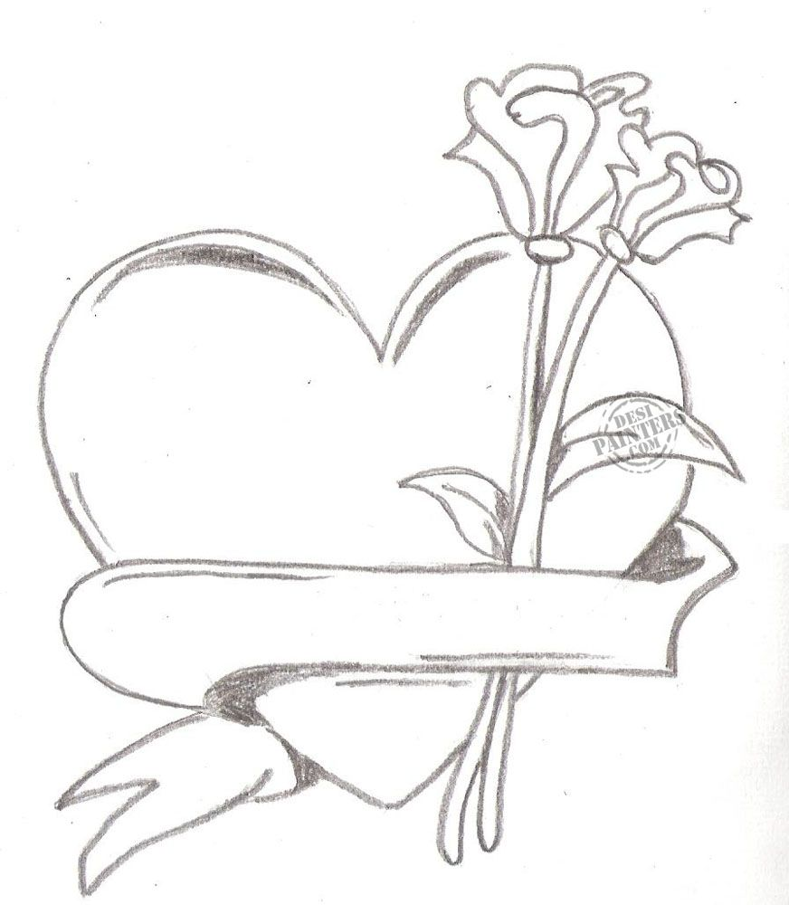 heart drawing Love you drawings in pencil with heart free download ...