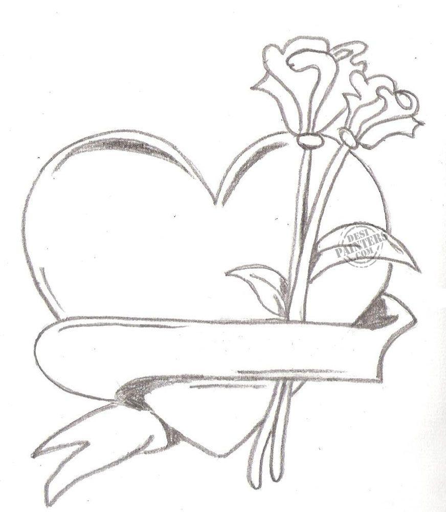 heart drawing Drawings in pencil of love hearts heart jpg ...