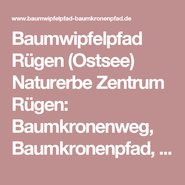 Baumwipfelpfad Rügen (Ostsee) Naturerbe Zentrum Rügen: Baumkronenweg, Baumkronenpfad, Baumwipfelweg