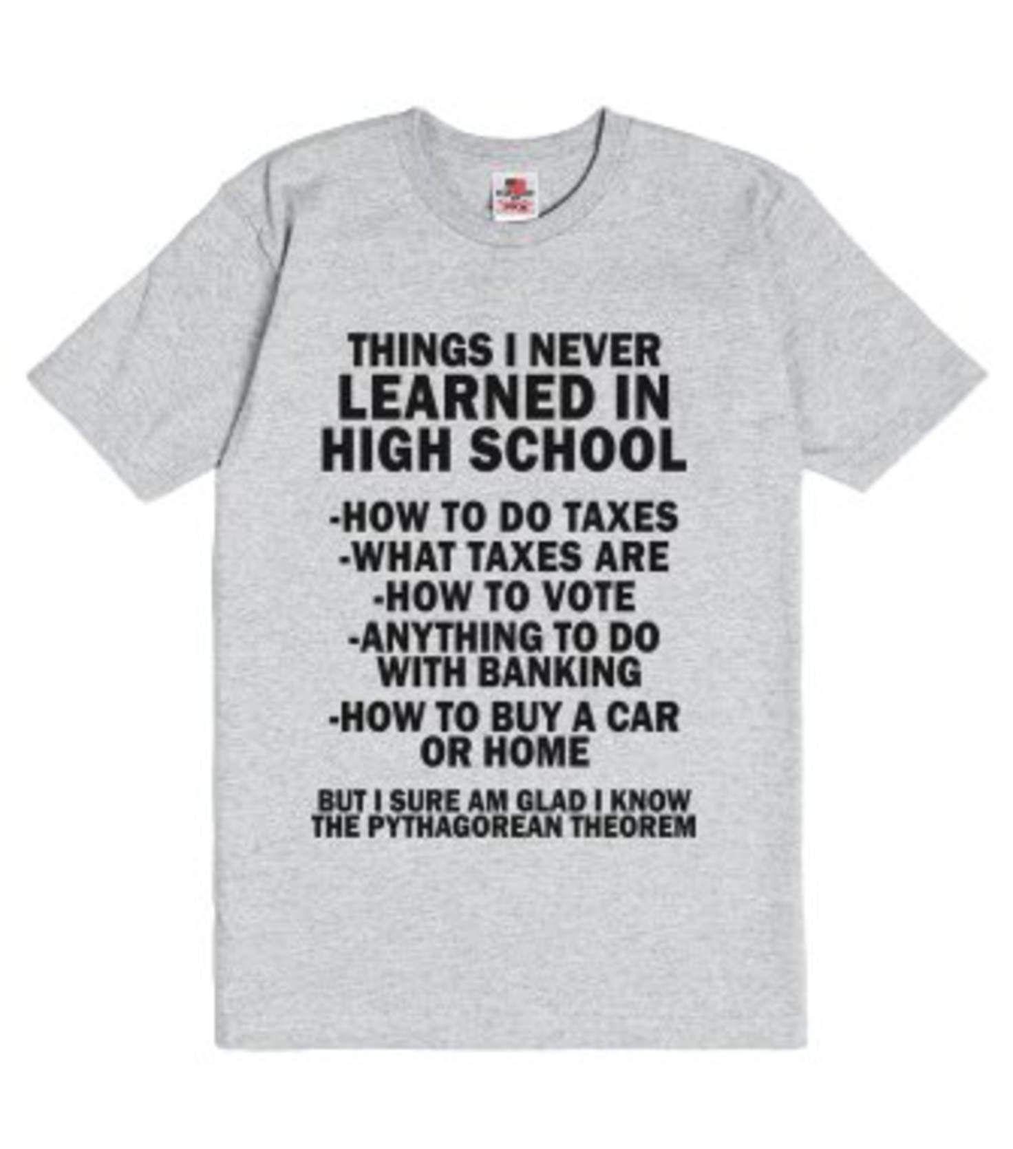 e70e8df1224 Things I ve Never Learned In School-Unisex Dark Ash T-Shirt