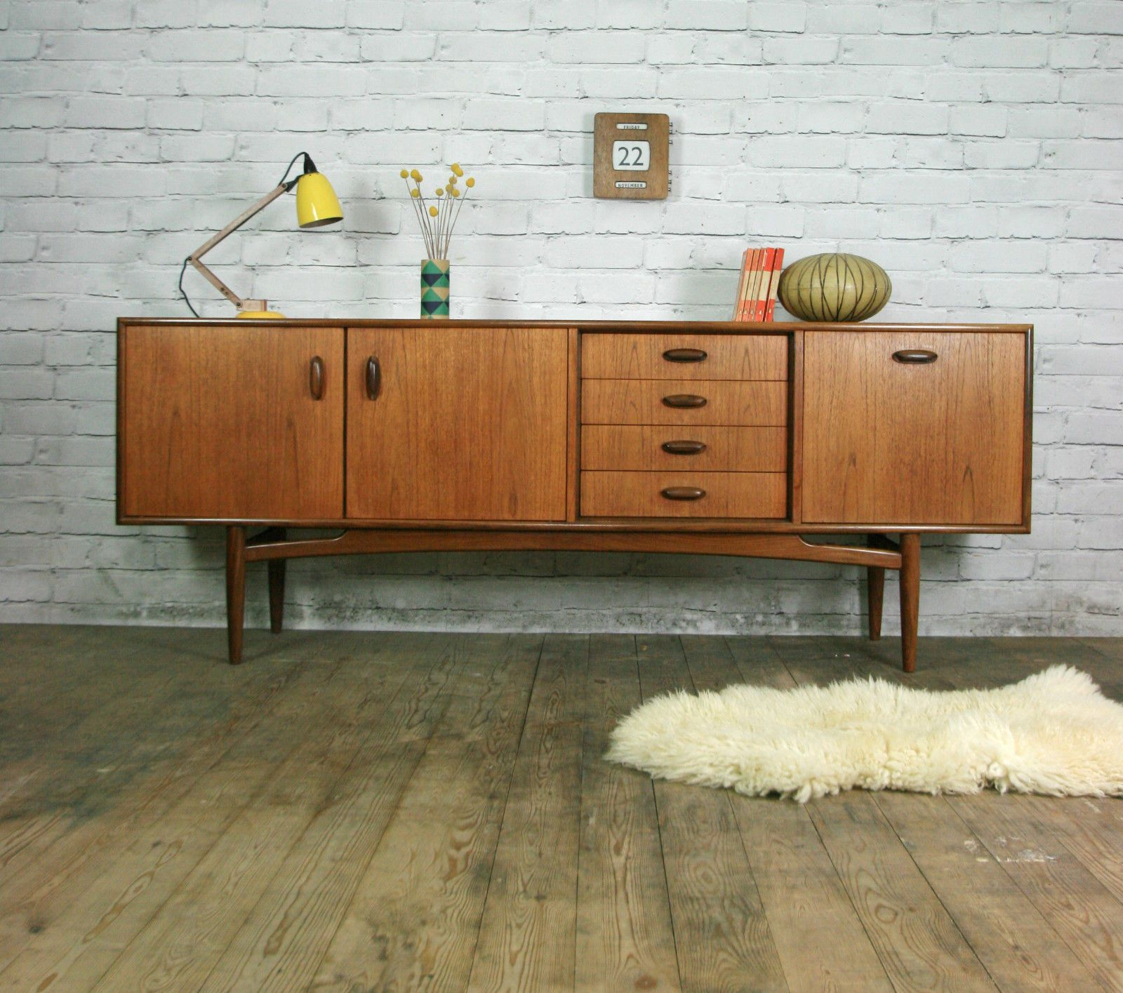 g plan retro vintage teak mid century sideboard eames era. Black Bedroom Furniture Sets. Home Design Ideas