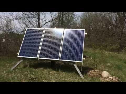 750 Watt Solar Array That Powers A Tiny Off Grid Home Solar Solar Panel Cost Solar Panels