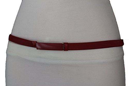 Women Brown Faux Suede Fashion Corset Belt Fabric Elastic High Waist Stretch M L