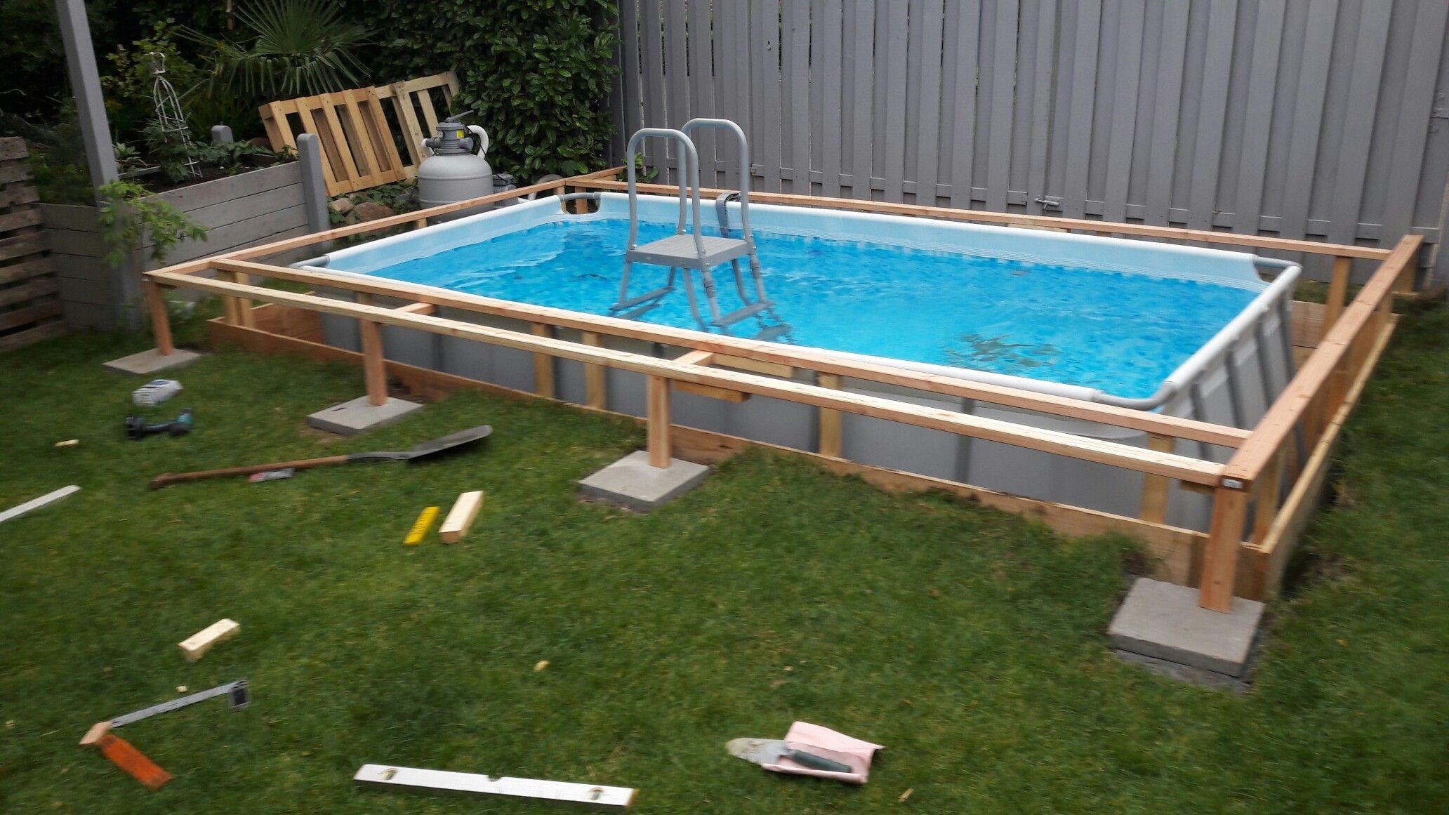 Pin Von Audrey Kenney Auf Eigenen Pool Bauen Pool Im Garten Garten Pool Selber Bauen Pool