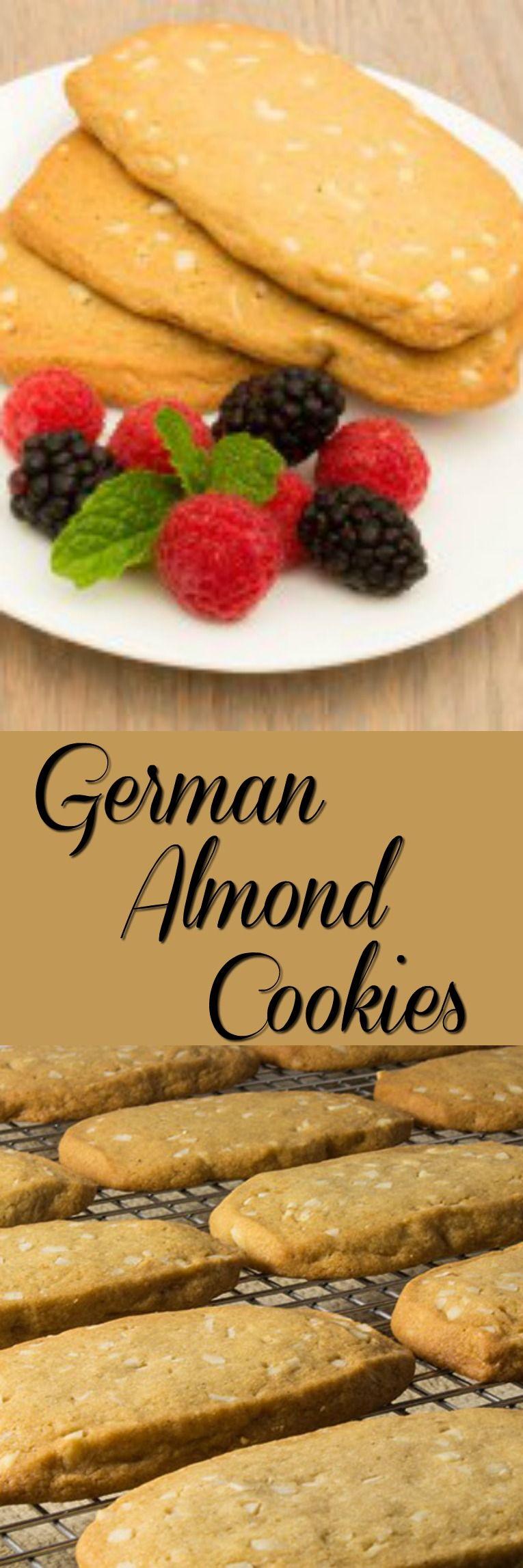 German Almond Cookies German Food German Cookies German