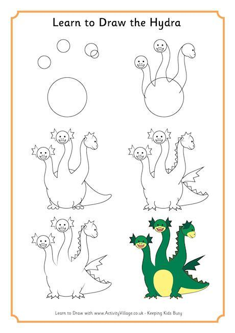 Learn to Draw Hydra | Mythical creatures drawings, Learn to draw, Greek  drawing