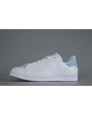 new style 813ab 9de85 Ladies President Adidas Originals Stan Smith White Light Blue Snake Finish  Line