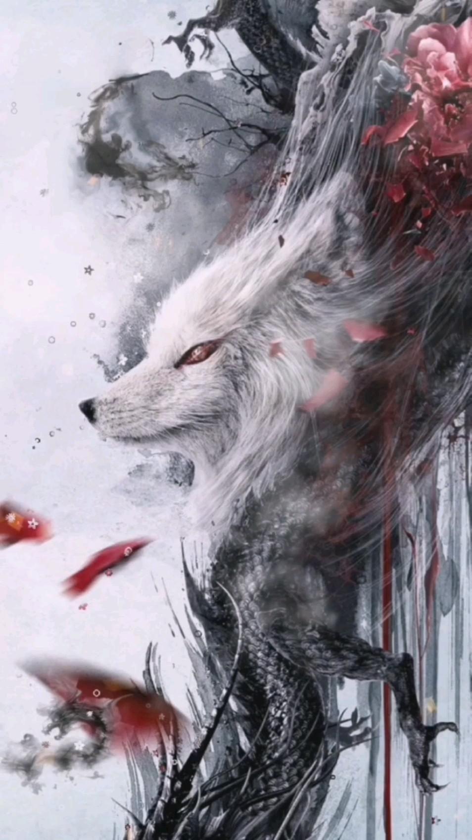 Wolf White #fyp #foryou #videowallpaper #anime #manga #VIDEOGAME #wolf #nature #lobo #animacion
