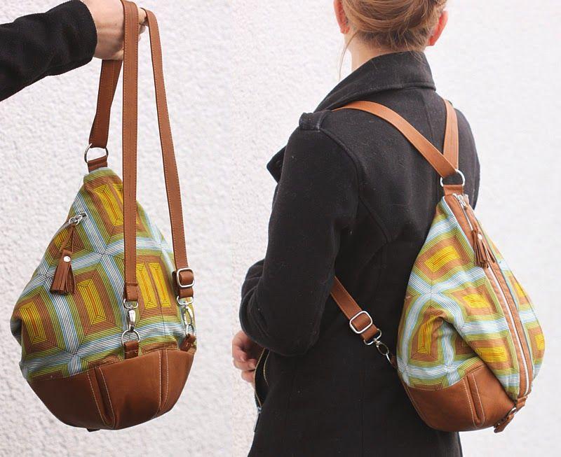 machwerk: Sixta: Tasche, Rucksack oder Matchsack   Nähen   Pinterest ...