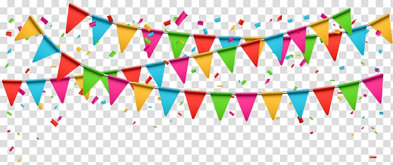 Assorted Color Bantings Illustration Party Birthday Party Transparent Background Png Clipart Birthday Clips Party Hats Balloon Gift
