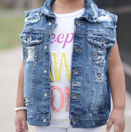 0d92a366d Baby   toddler girl   boy hand - distressed denim vest   jacket ...