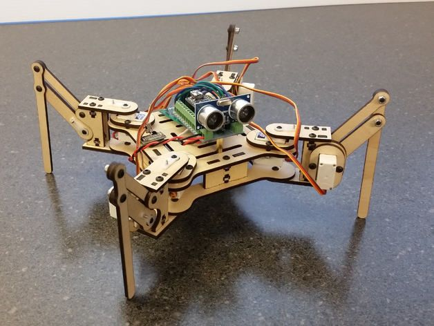 Meped quadruped robot by spiercetech thingiverse
