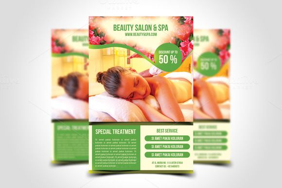 Beauty Salon Spa Flyer Template By Meisuseno On Creativework247