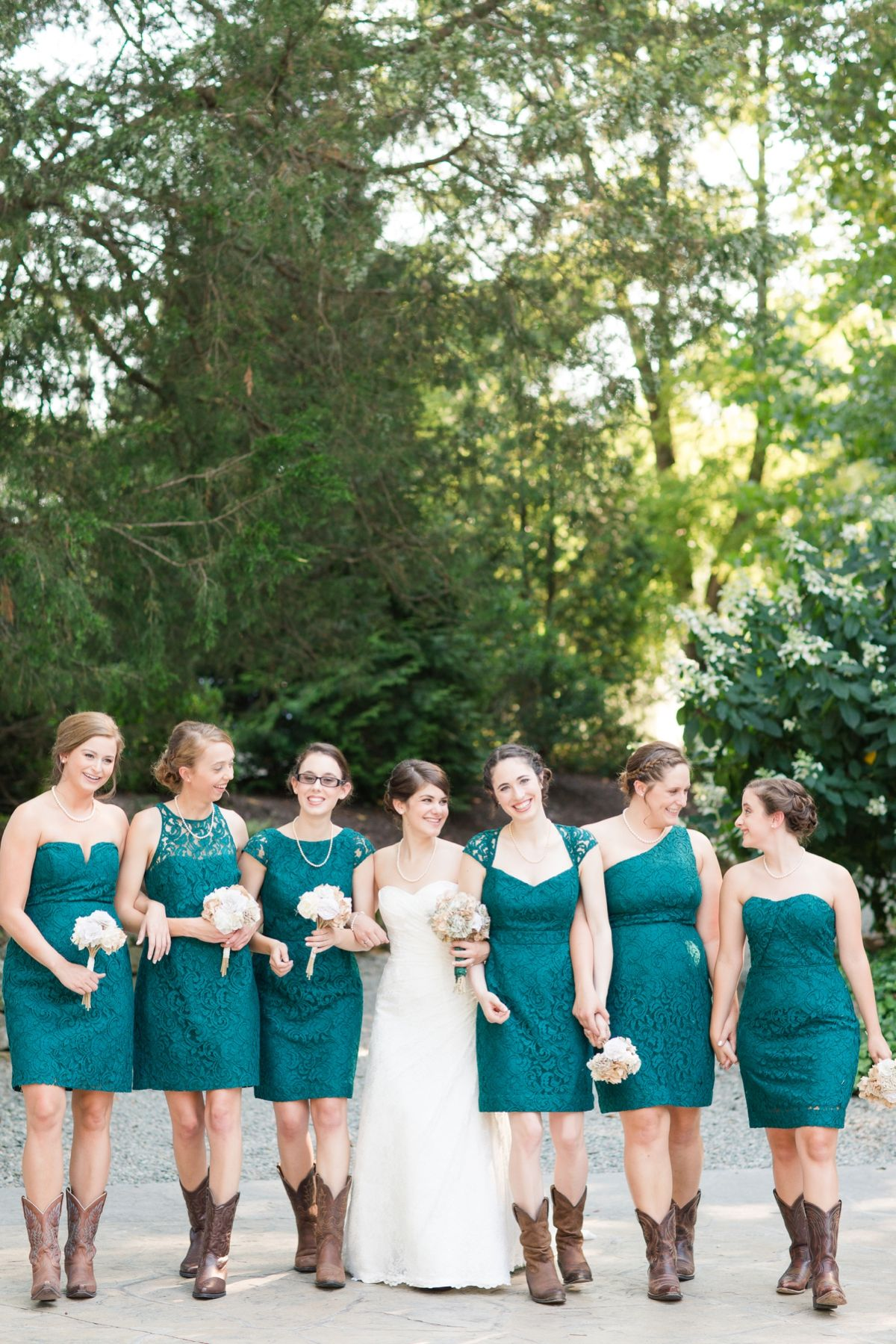 Teal Wedding Bridesmaid Dresses