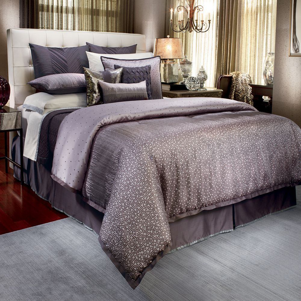 Silver Bedroom · Madison Park Mendocino 7 Pc. Pintuck Comforter Set