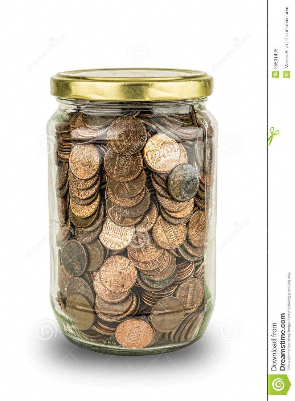 full coin jar