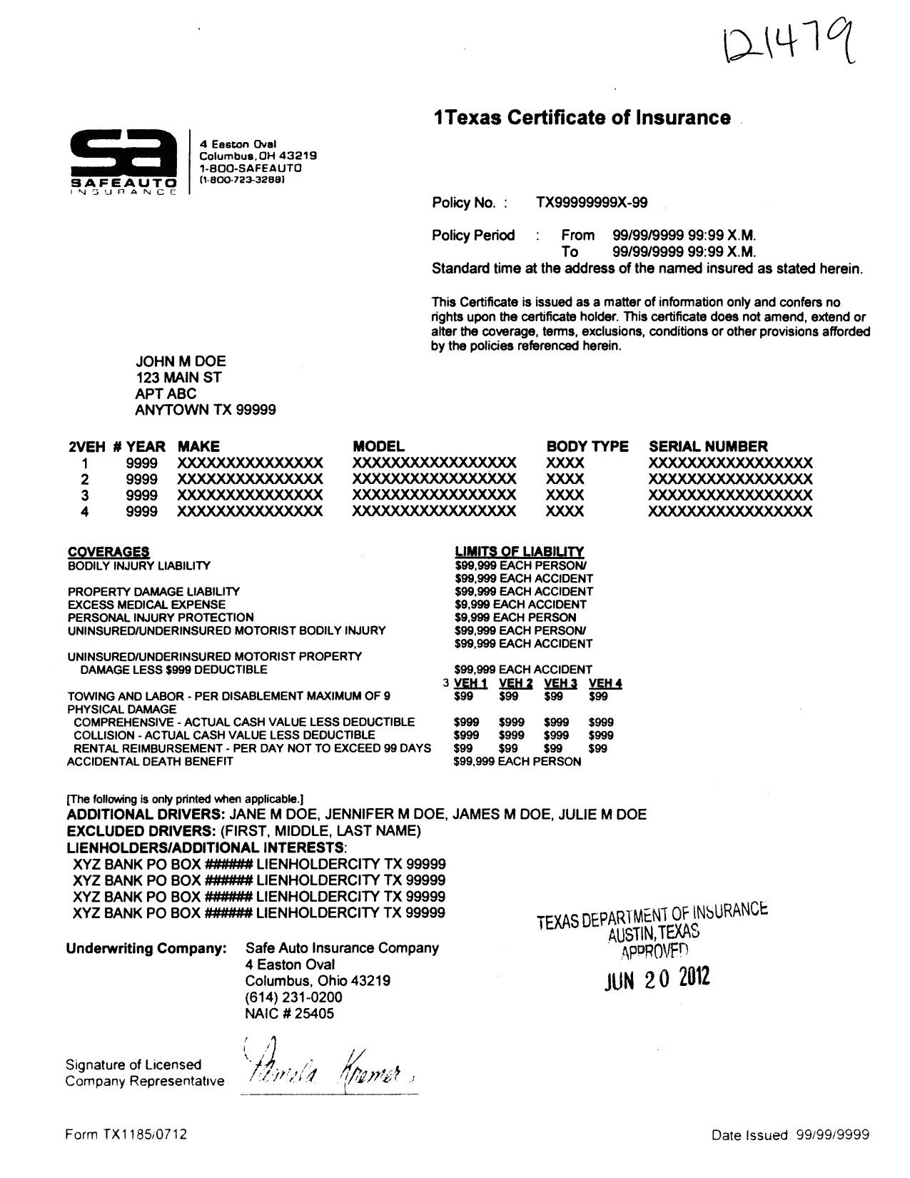 Texas Progressive Progressive Proof Of Insurance Template Inside Proof Of Insurance Card Template Cumed Org Card Template Car Insurance Progressive Insurance Texas liability insurance card template