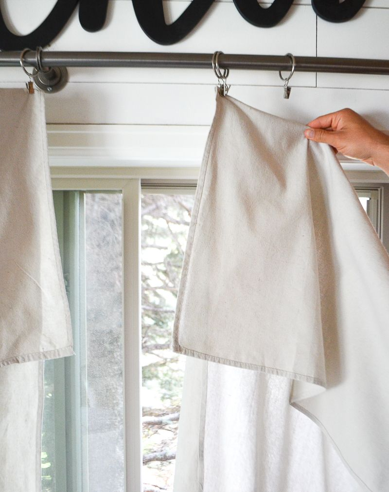 Step by step drop cloth curtain tutorial drop cloth curtains easy